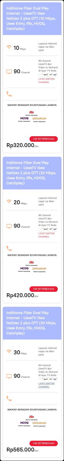 paket Dual Play,internet tv,paket indihome dua layanan,wifi dan UseeTV