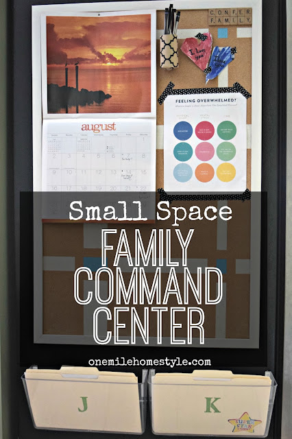 Small Space Family Command Center  | One Mile Home Style