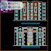 مخطط مشروع عمارة سكنية 4 طوابق (R+4+ss) اتوكاد dwg