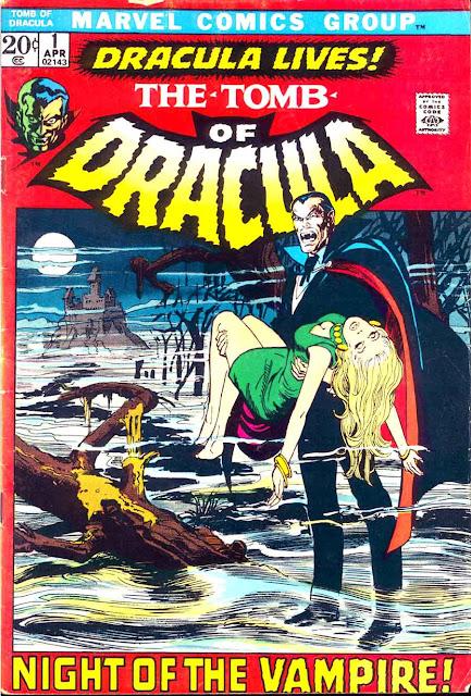Tomb of Dracula v1 #1, 1972 marvel bronze age comic book cover by neal adams
