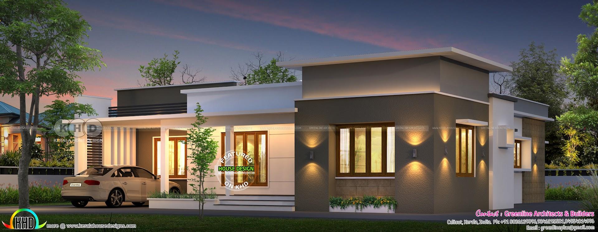 1500 sq-ft Villa design plan by Greenline Architects ...