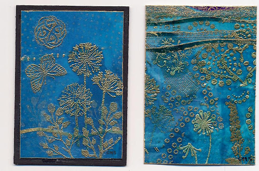 Ocean/Sunset ATCs: Catherine L. Mommsen