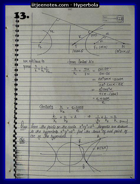 hyperbola notes2