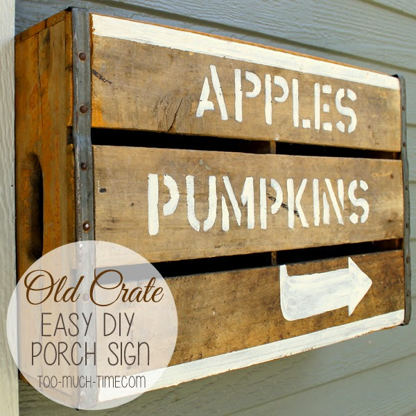 old crate porch sign