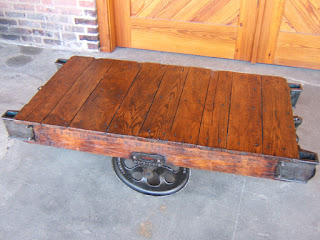 Lineberry Foundry factory cart coffee table
