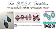 Free svgs for Faux Leather Earrings