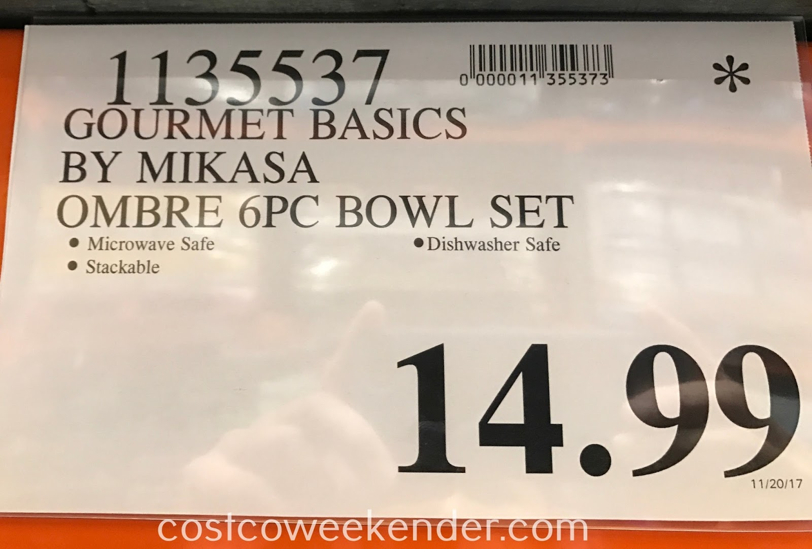 Deal for the Gourmet Basics by Mikasa Ombre 6pc Soup Bowl Set at Costco