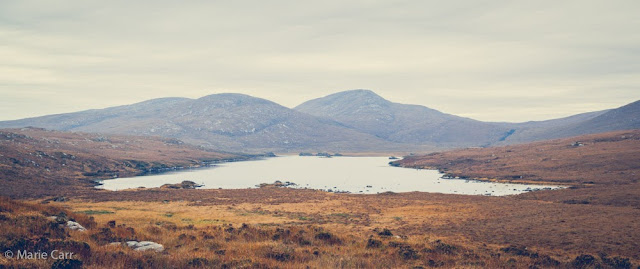 View of Lough Inshagh in the Derryveagh Mountains in Co. Donegal