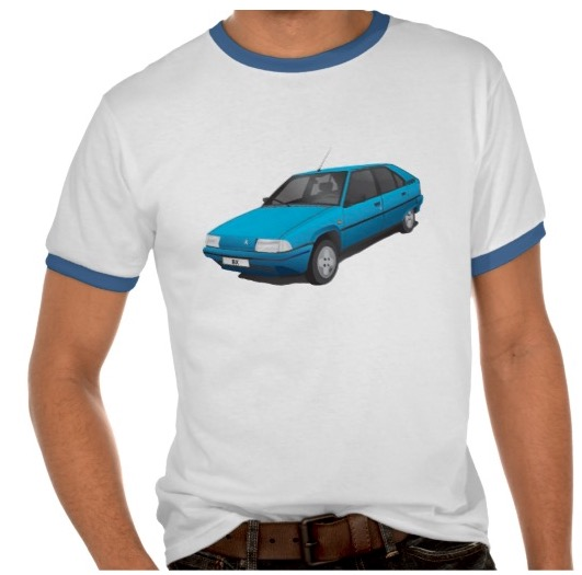 Citroen BX t-shirt with text, blue