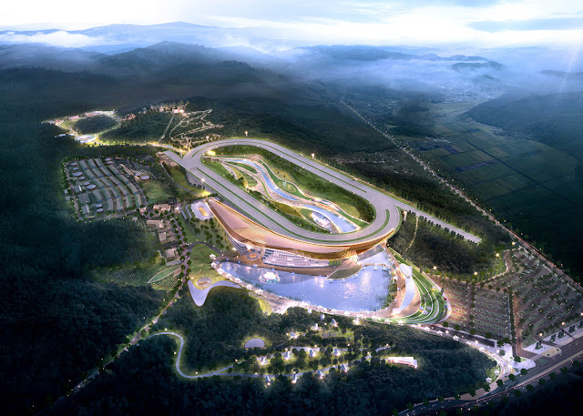 """Race course and horse """"theme park"""" in South Korean by Grimshaw"""