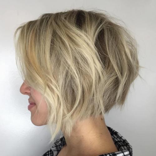 Contoh Potongan Angle Hair Cut