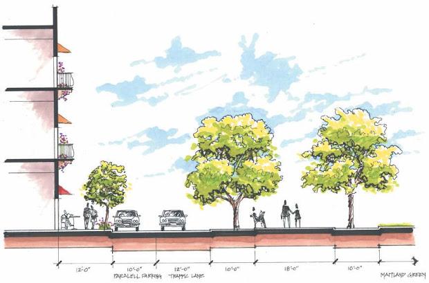 art design landscape cross sections