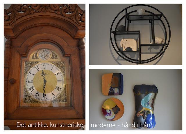 Tidløst design i interiøret. Det antikke, kunstneriske og moderne, hånd i hånd. Furulunden