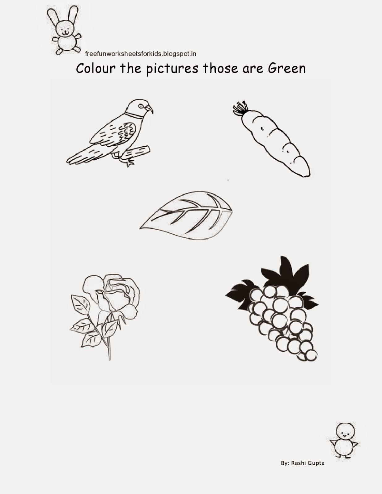 free fun worksheets for kids free printable fun worksheets for class nursery colour the objects. Black Bedroom Furniture Sets. Home Design Ideas