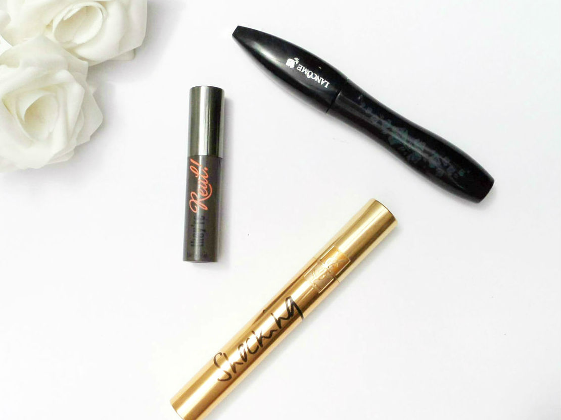 Benefit They're Real Mascara, lancome hypnose  Doll Eyes mascara, Top Three Mascaras, YSL Shocking Mascara,