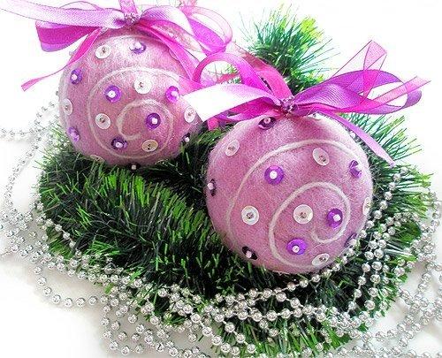 Праздничный декор своими руками:. мастерим новогодние шары и игрушки (МК и идеи)