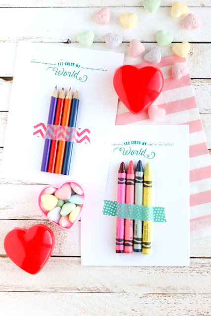 crayon valentine cards for kids