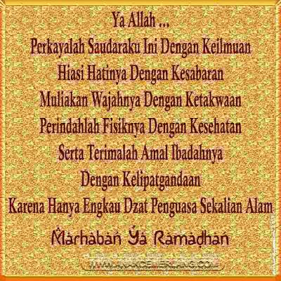 kata ucapan puasa islami