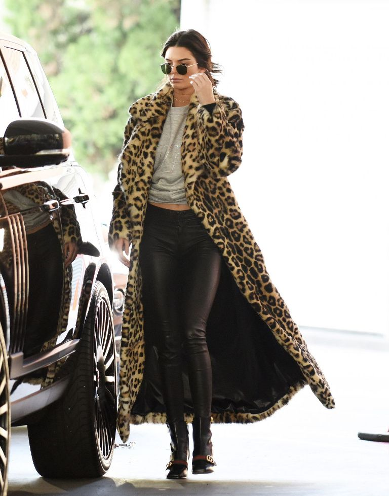 Kendall Jenner at a Gas Station in Beverly Hills