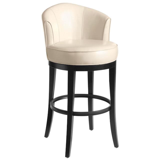 высокий барный стул с мягкой круглой частью