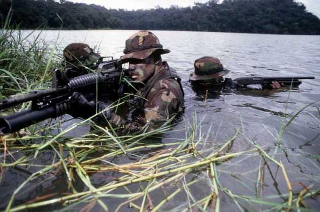 TonyRogers.com - U.S. Navy SEAL Arctic Training  |Navy Seals Emerging From Water