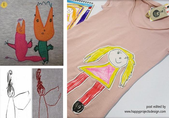 maneras creativas de regalar dibujos de niños: camisetas