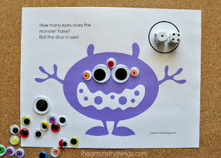 preschool monster math printable