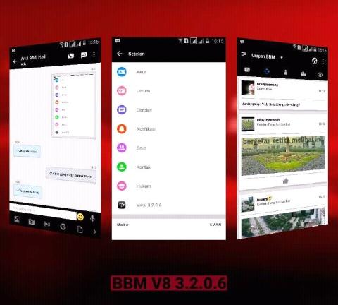 Download BBM Mod Original Style New Version v8 [Based 3.2.0.6] Apk Terbaru Gratis