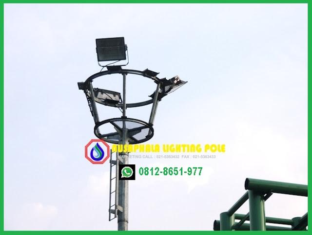 model tiang lampu sorot stadion