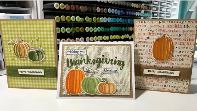 Sunny Studio Stamps: Pretty Pumpkins customer card by Andrea Szabo