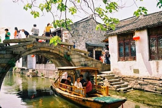 China Zhouzhuang The Water Town Fuan Bridge
