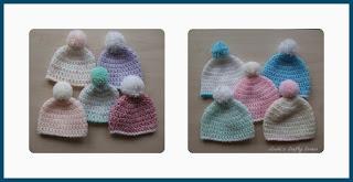 preemie,baby,hats,pompom,easy,free pattern
