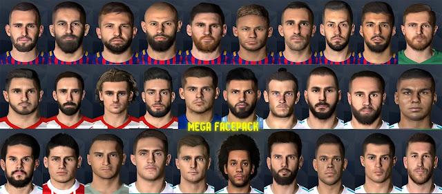 PES 2017 Mega Facepack dari Messi Pradeep