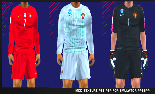 0a3f7f408 Portugal 2018 Update Kits PES PSP For Emulator PPSSPP. Portugal 2018 World  Cup ...
