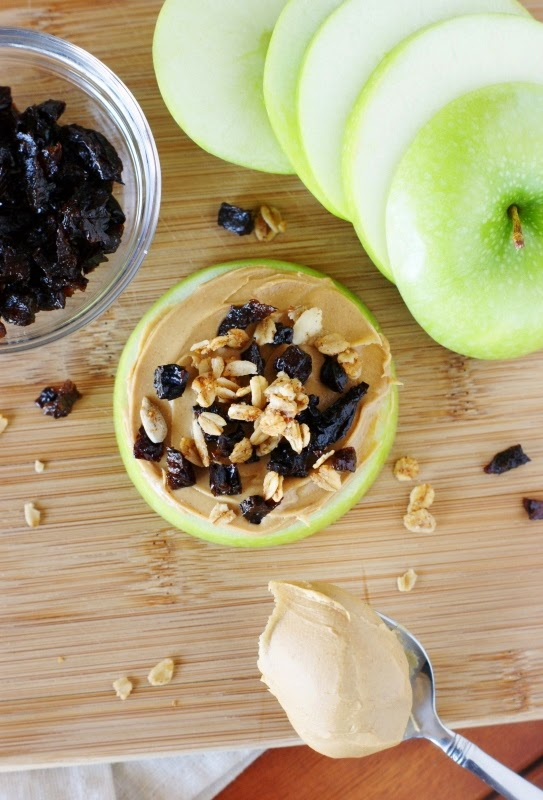 Diced Prune & Peanut Butter Apple Snacks
