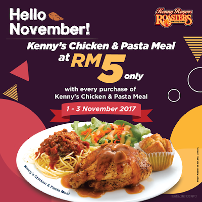 KRR Malaysia Kenny's Chicken and Pasta Meal Promo