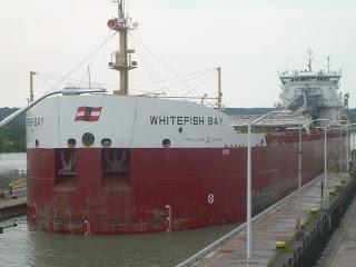 Whitefish Bay cargo ship entering the lock