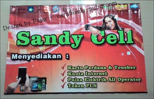 Hasil Jasa Cetak dan Desain Spanduk Sandy Cell