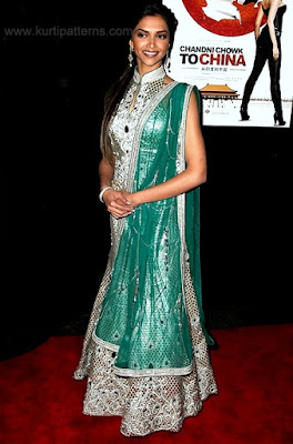Dress No. 7 - Deepika Padukone - Sea green high neck dress