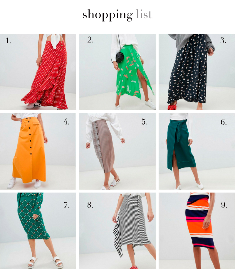 a trendy life faldas midi largas skirt fashion moda mujer asos - VESTIDO MIDI VAPOROSO - 080 BARCELONA FASHION