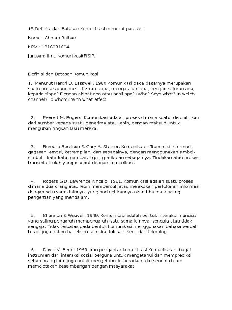 Definisi Komunikasi Menurut Para Ahli Beserta Daftar Pustaka : definisi, komunikasi, menurut, beserta, daftar, pustaka, Pengertian, Komunikasi, Menurut, Tahunnya, Rasanya