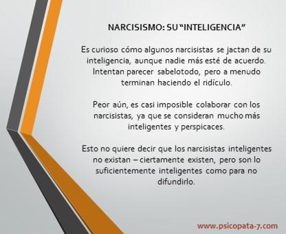 """""""Narcisismo: su inteligencia""""  - Pensamiento en imagen"""