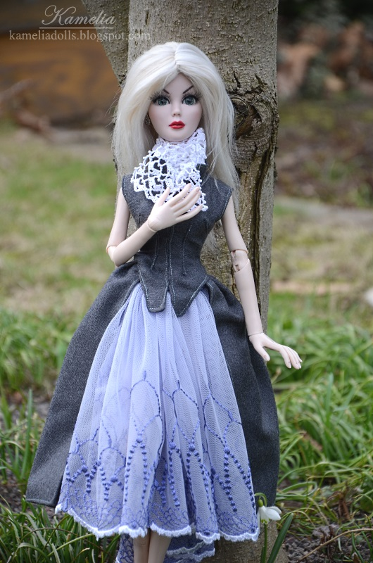 Handmade outfit for Evangeline Ghastly doll.