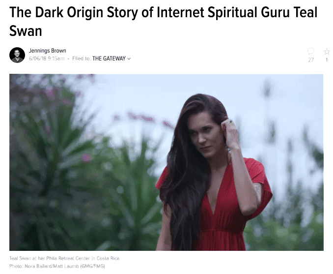 The Dark Origin Story of Internet Spiritual Guru Teal Swan