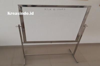 Jasa Pembuatan White Board, Papan Board atau Papan Tulis dengan Rangka Besi, Stainless maupun Aluminium