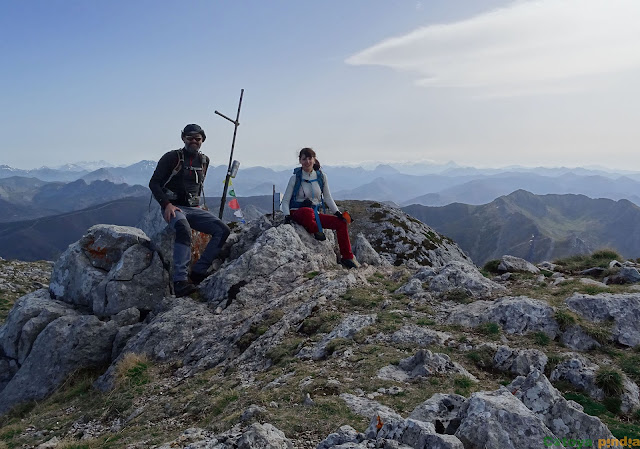 En la cima de Peña Valdorria