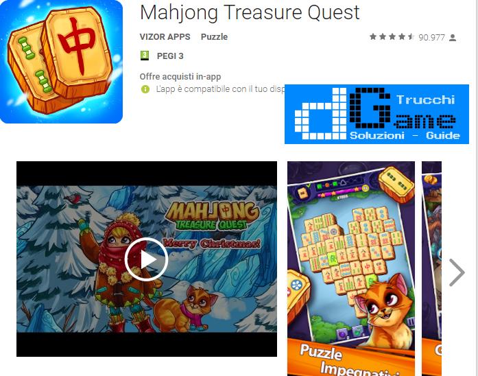 Trucchi Mahjong Treasure Quest Mod Apk Android v 2.11