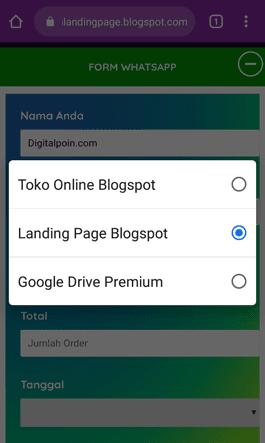 landingpage blogspot