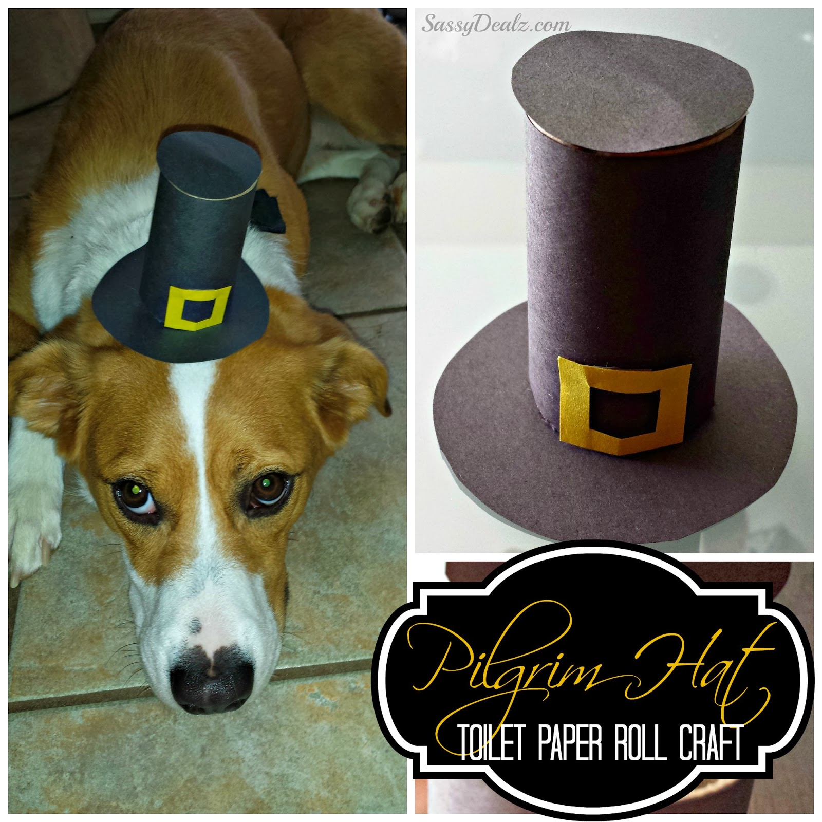 Pilgrim Hat Toilet Paper Roll Thanksgiving Craft For Kids
