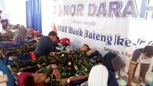 30 Prajurit Yonif Mekanis 411 Kostrad Donor Darah